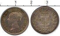 Изображение Монеты Великобритания 4 пенса 1872 Серебро XF Виктория