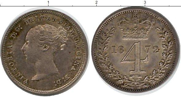 Картинка Монеты Великобритания 4 пенса Серебро 1872