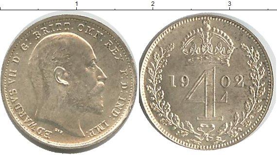 Картинка Монеты Великобритания 4 пенса Серебро 1902