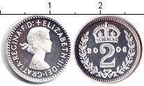 Изображение Монеты Великобритания 2 пенса 2006 Серебро Proof- Елизавета II