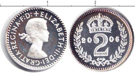 Картинка Монеты Великобритания 2 пенса Серебро 2006