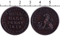 Изображение Монеты Великобритания 1/2 пенни 1812 Медь XF г. Гулль. Токен