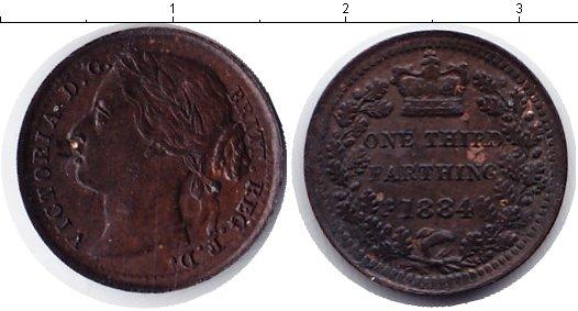 Картинка Монеты Великобритания 1/3 фартинга Медь 1884