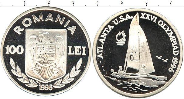 Картинка Монеты Румыния 100 лей Серебро 1996