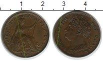 Изображение Монеты Великобритания 1 фартинг 1823 Медь XF+
