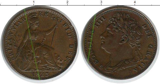 Картинка Монеты Великобритания 1 фартинг Медь 1823