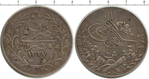 Картинка Монеты Египет 20 кирш Серебро 1327