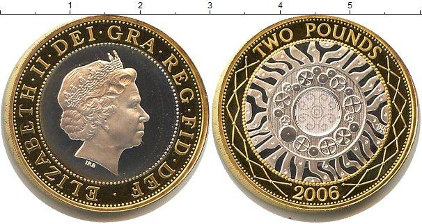 Картинка Монеты Великобритания 2 фунта Биметалл 2006