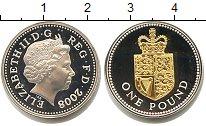 Изображение Монеты Великобритания 1 фунт 2008 Серебро Proof Елизавета II. Позоло