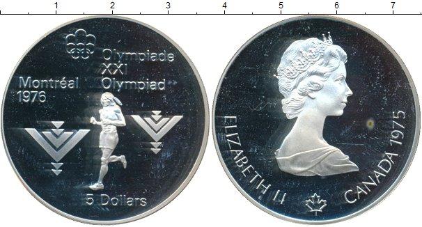 Картинка Монеты Канада 5 долларов Серебро 1975