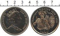 Изображение Монеты Остров Мэн 1 крона 2000 Медно-никель UNC Франсиско Писарро