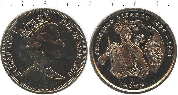 Картинка Монеты Остров Мэн 1 крона Медно-никель 2000