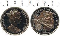Изображение Монеты Остров Мэн 1 крона 1999 Медно-никель UNC Роберт Фолкон Скотт