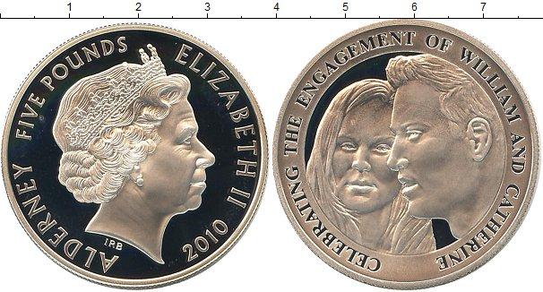 Картинка Монеты Олдерни 5 фунтов Серебро 2010