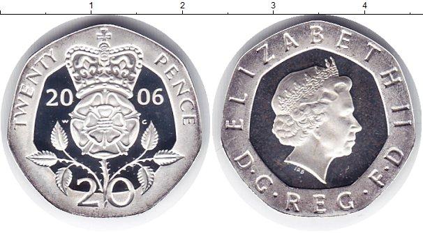 Картинка Монеты Великобритания 20 пенсов Серебро 2006