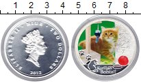 Изображение Монеты Ниуэ 2 доллара 2012 Серебро Proof Кошка и собака. Ваши