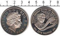 Изображение Монеты Великобритания 5 фунтов 1998 Медно-никель UNC Принц Уэльский