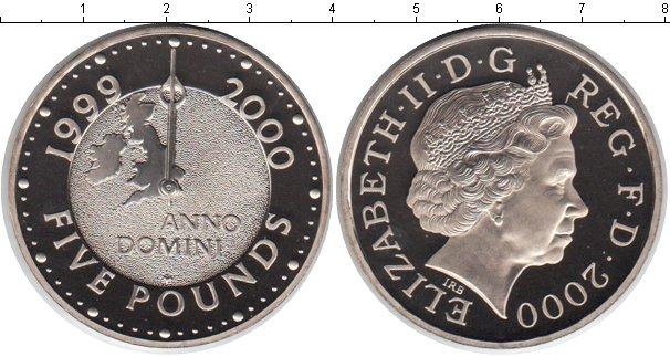 Картинка Монеты Великобритания 5 фунтов Медно-никель 2000