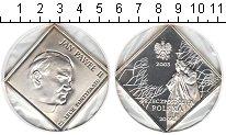 Изображение Мелочь Польша 20 злотых 2003 Серебро Proof- Иоанн Павел II