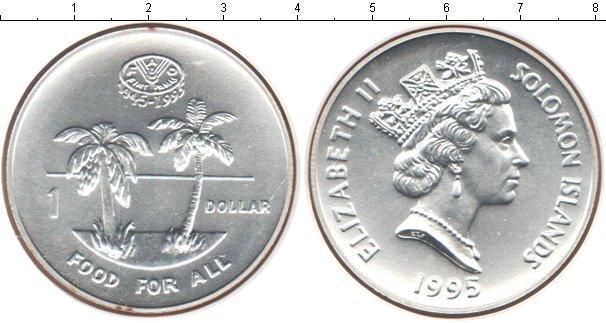 Картинка Монеты Соломоновы острова 1 доллар Серебро 1995
