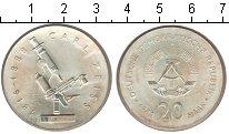 Изображение Монеты ГДР 20 марок 1982 Серебро UNC- Карл Цейс
