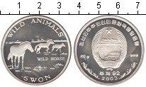 Изображение Монеты Северная Корея 5 вон 2003 Серебро Proof-