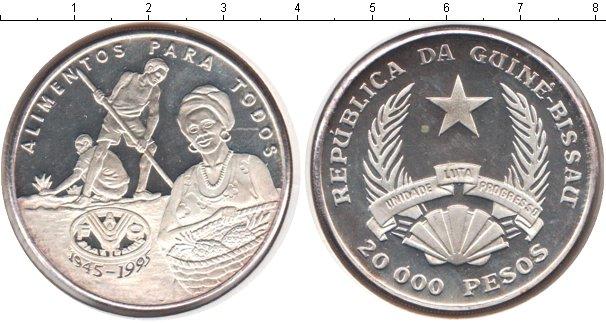 Картинка Монеты Гвинея-Бисау 20.000 песо Серебро 1995
