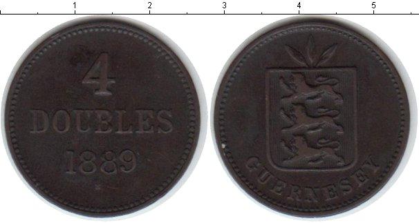 Картинка Монеты Гернси 4 дубля Медь 1889