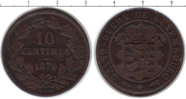 Картинка Монеты Люксембург 10 сантимов Медь 1870