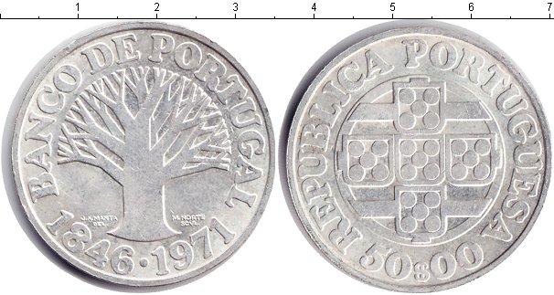 Картинка Монеты Португалия 50 эскудо Серебро 1971