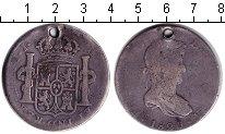 Изображение Монеты Мексика 8 реалов 1820 Серебро  Отверстие. Фердинанд