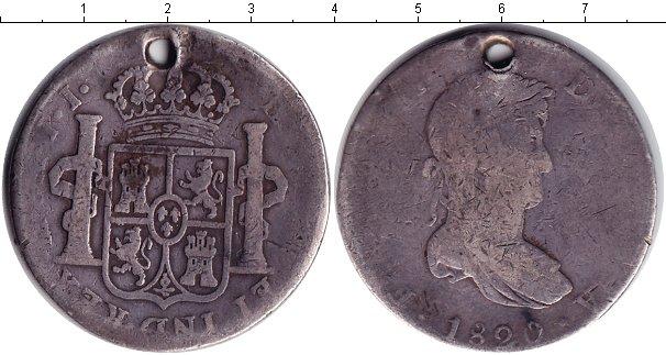 Картинка Монеты Мексика 8 реалов Серебро 1820