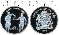 Изображение Монеты Малави 20 квач 1999 Серебро Proof- Олимпийские игры 200