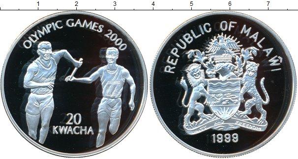 Картинка Монеты Малави 20 квач Серебро 1999