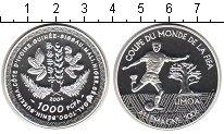 Изображение Монеты КФА 1.000 франков 2004 Серебро Proof- FIFA 2006.