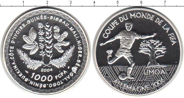 Картинка Монеты КФА 1.000 франков Серебро 2004