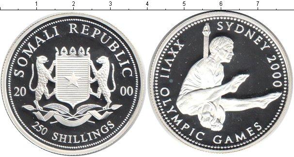 Картинка Монеты Сомали 250 шиллингов Серебро 2000