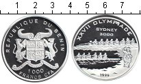 Изображение Монеты Бенин 1000 франков 1999 Серебро Proof-