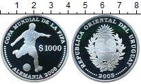 Изображение Монеты Уругвай 1000 песо 2003 Серебро Proof <br>ФИФА 2006