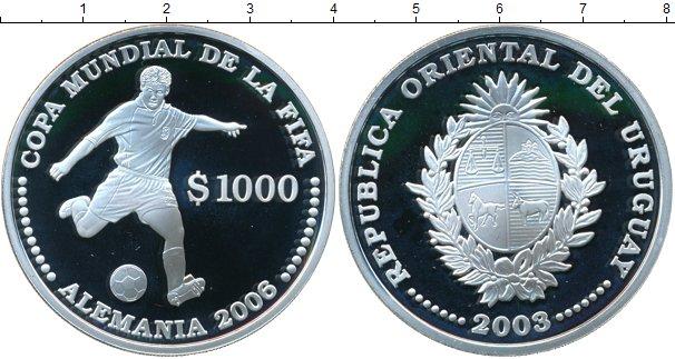 Картинка Монеты Уругвай 1.000 песо Серебро 2003