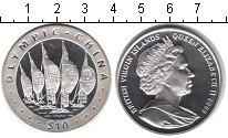 Изображение Монеты Виргинские острова 10 долларов 2008 Серебро  Олимпийские игры