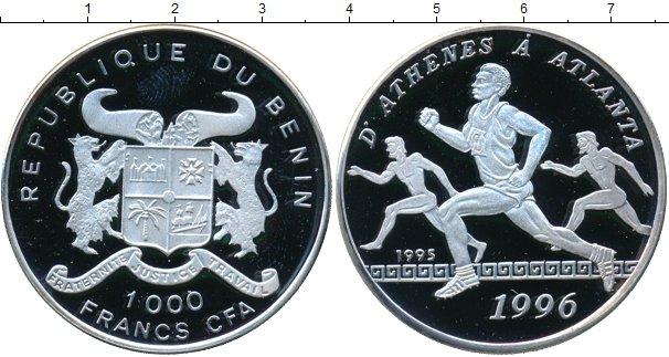 Картинка Монеты Бенин 1.000 франков Серебро 1996