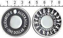 Изображение Монеты Австралия 1 доллар 2006 Серебро Proof Чемпионат мира по фу