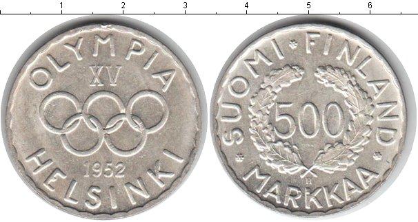 Картинка Монеты Финляндия 500 марок Серебро 1952