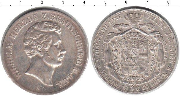 Картинка Монеты Брауншвайг-Люнебург 2 талера Серебро 1855