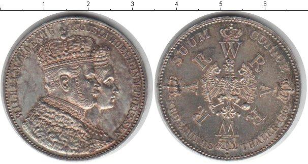 Картинка Монеты Пруссия 1 талер Серебро 1861