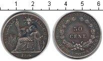 Изображение Монеты Индокитай 50 центов 1936 Серебро XF Французский протекто