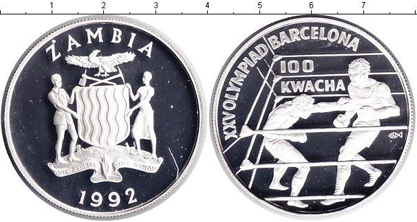 Картинка Монеты Замбия 100 квач Серебро 1992