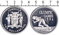Монета Ямайка 10 долларов Серебро 1996 Proof фото