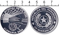 Изображение Монеты Парагвай 1 гарани 2004 Серебро Proof Чемпионат мира по фу
